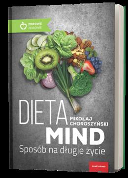 """Okładka książki """"Dieta MIND. Sposób na długie życie"""""""