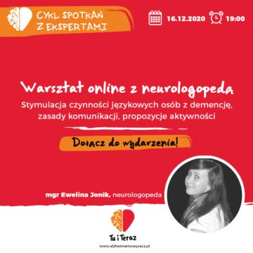 Warsztat online z neurologopedą