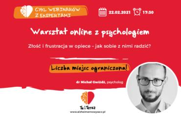 """Warsztaty online: """"Złość i frustracja w opiece – jak sobie z nimi radzić?"""""""